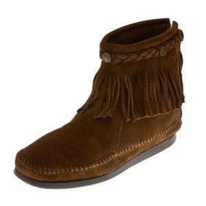 Minnetonka Fringe Ankle Boot